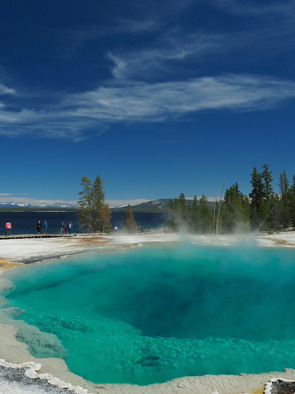 West Thumb Basin Geysers + Yellowstone Lake