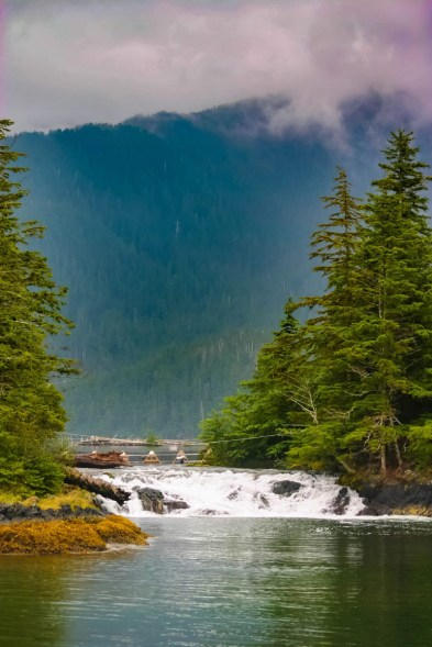 View of Alaskan waterways on one of our Alaska cruise excursions.