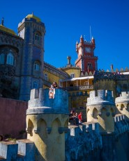 The colourful towers and ramparts of Pena Palace show off it's magical appeal