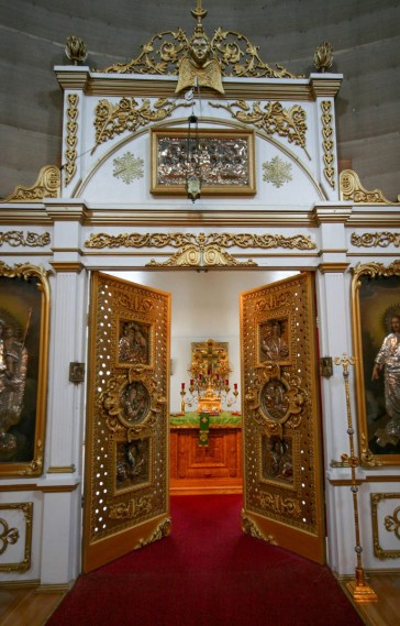 Interior of St. MIchael's Orthodox church in Sitka.