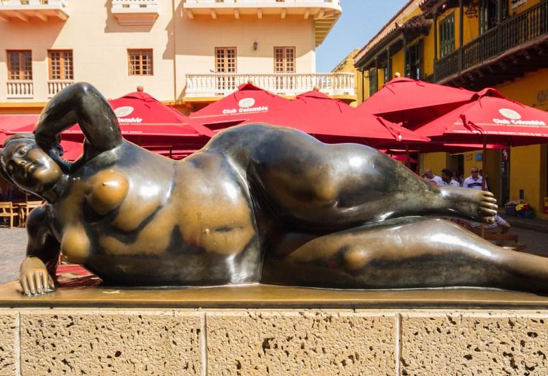 Reclining Nude statue in Cartagena