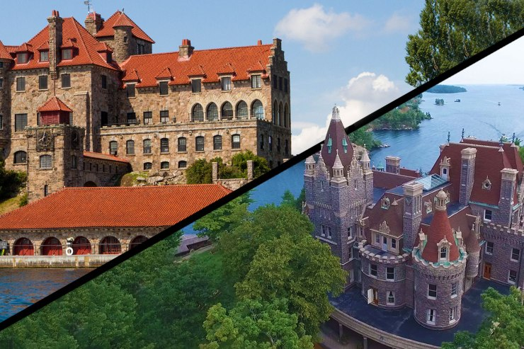 Boldt Castle and Singer Castles are two castles in the Thousand Islands National Park.