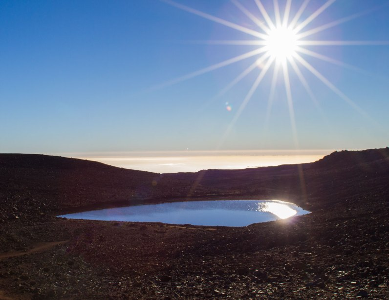 Lake Waiau in the Mauna Kea Ice Age Natural Area Reserve