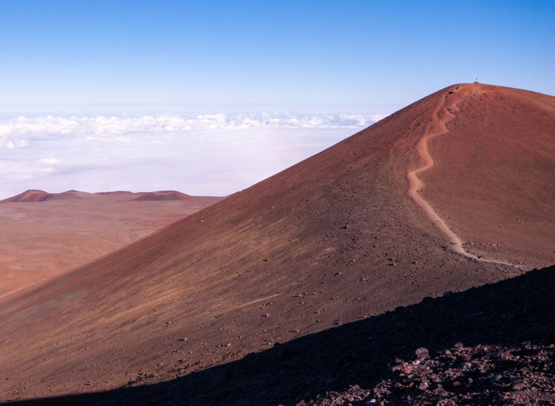Trail used to by hikers to smmit Mauna Kea on Big Island Hawaii