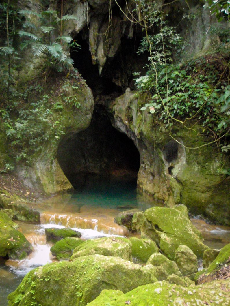 Entrance to ATM cave on of our must do activities in Belize.