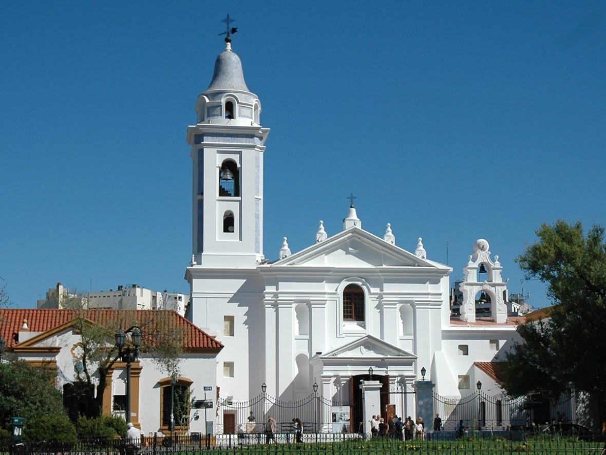 Basilica de Nuestra Senora del Pilar across from Recoleta cemetery in Buenos Aires.
