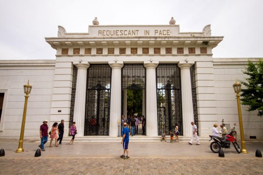 Entrance to Recoleta cemetery, one of our Buenos Aires highlights.