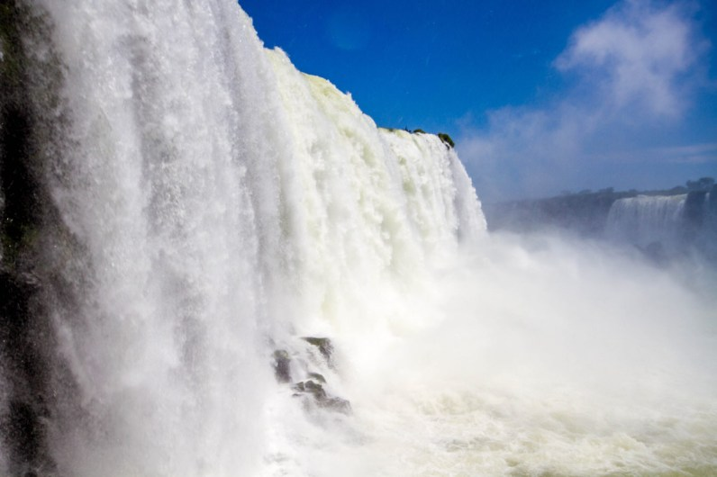 Up close to Iguazu Falls Brazil.
