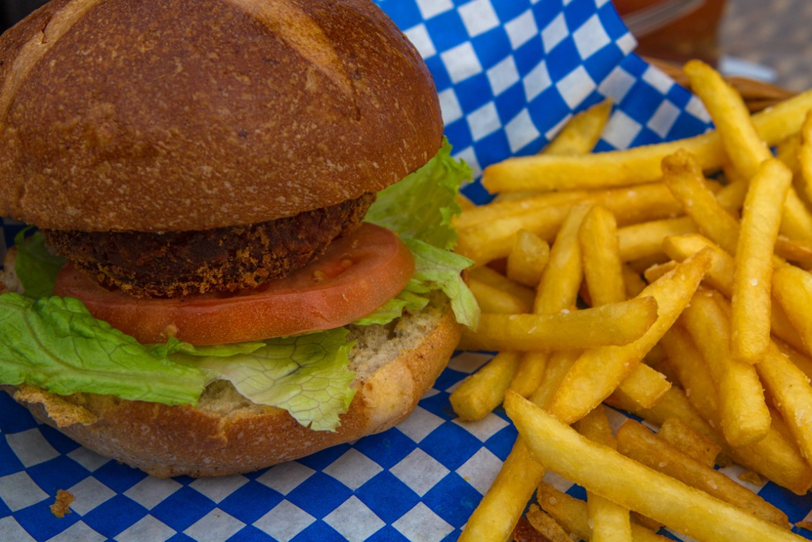 Fish burger is a traditional food on Good Friday in Bermuda.