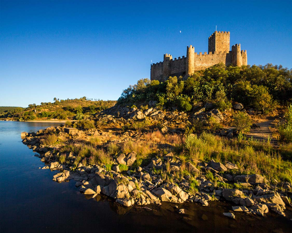 Castelo de Almoural near Alcobca Batalha and Tomar Portugal