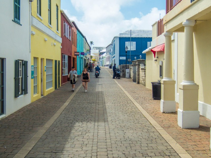 Colorful streets of St George Bermuda