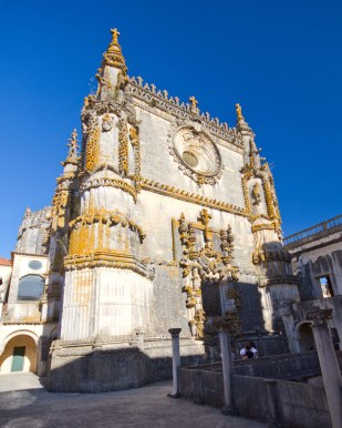 The Manueline Window of the Manueline Church in Convento do Cristo in Tomar, Portugal.