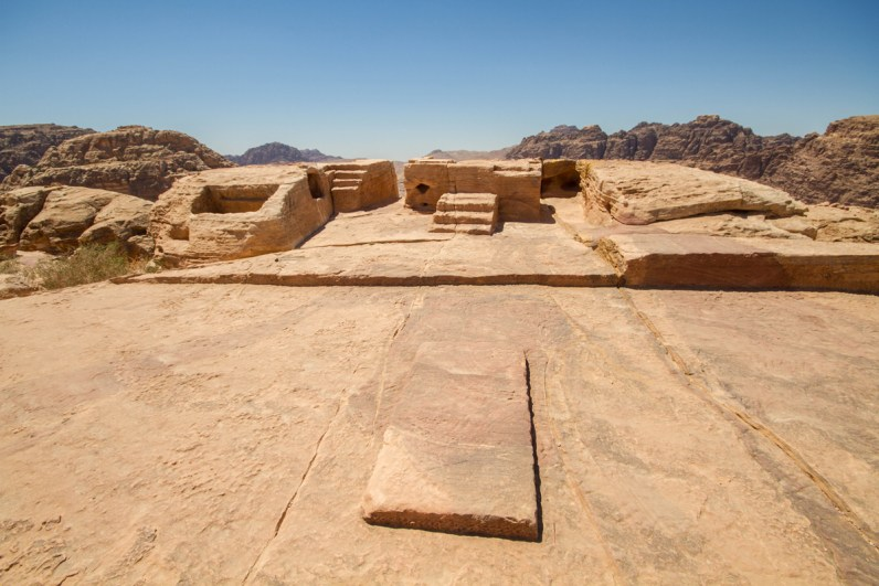 The altar at the high place of sacrifice