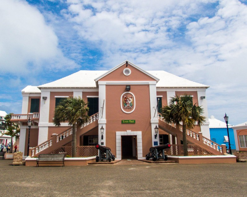 Town Hall in the town square of St George Bermuda.