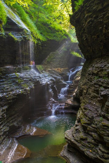 Beautiful pools and waterfalls abound at Watkins Glen State Park.