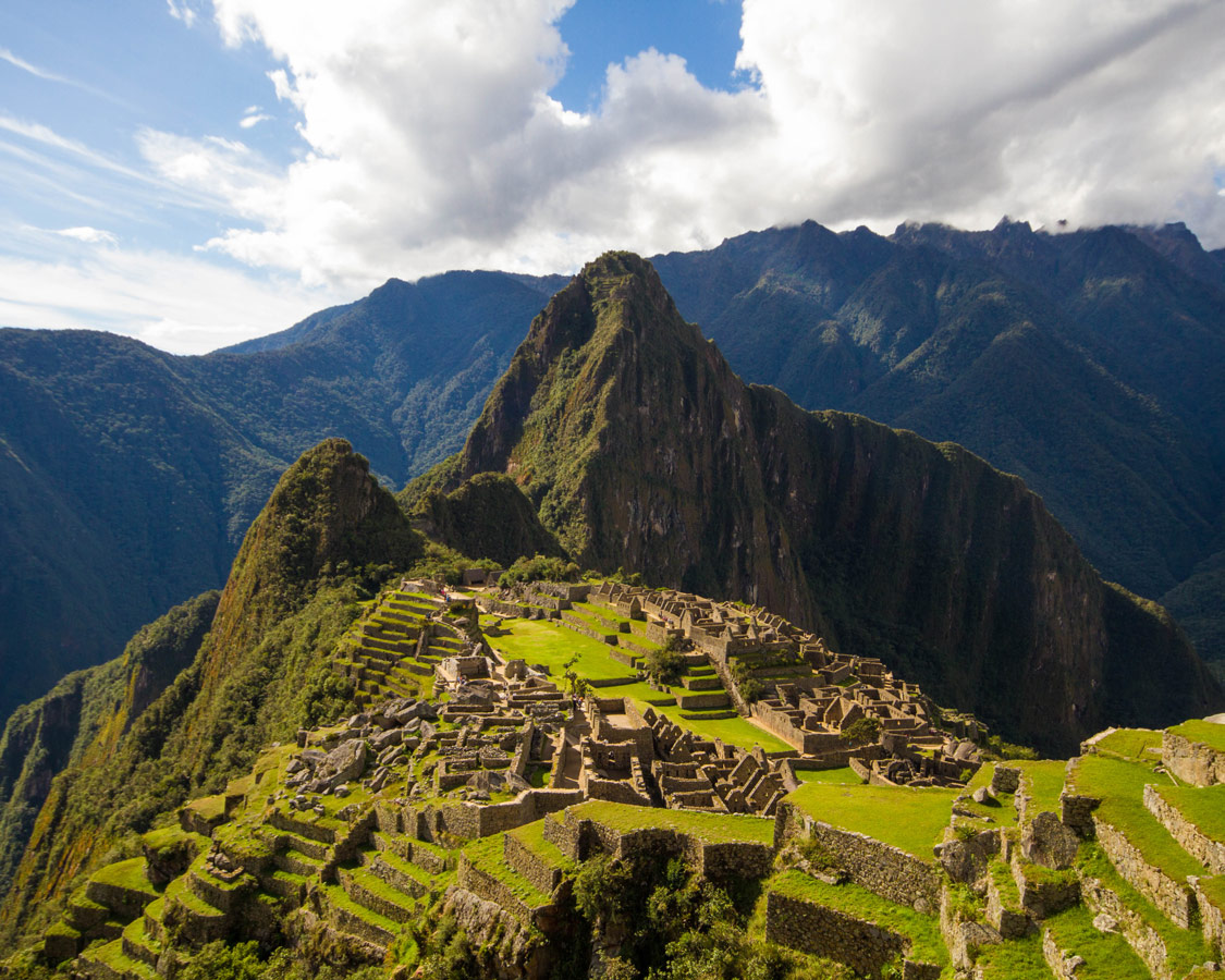 Machu Picchu Sanctuary from the first viewpoint.