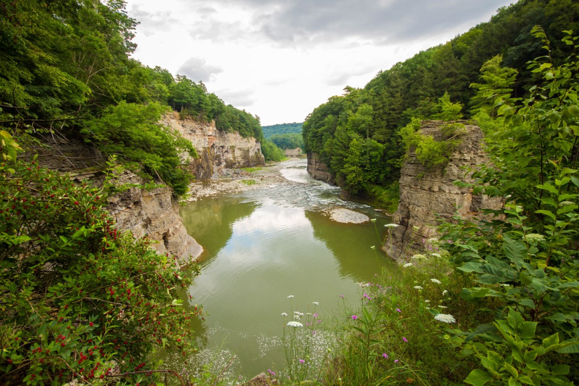 Letchworth State Park Things To Do The walls of the gorge tower over the Letchworth River