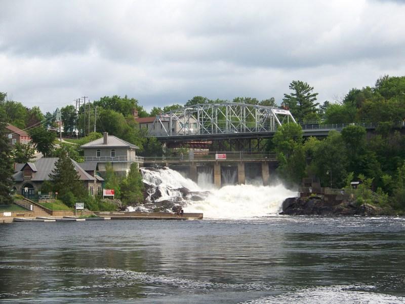Bracebridge Falls in Bracebridge Ontario