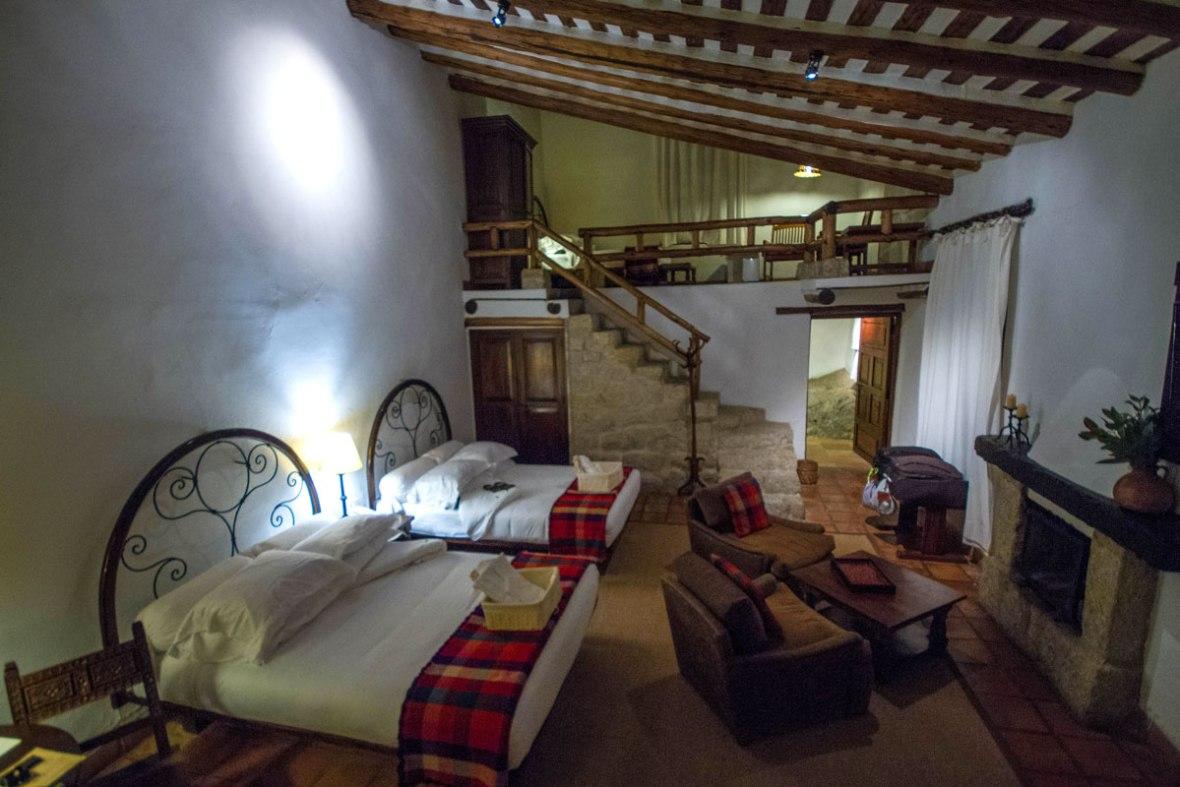 Hotel room at the InkaTerra Machu Picchu Hotel in Machu Picchu Pueblo Peru with kids on a 14 day Peru itinerary