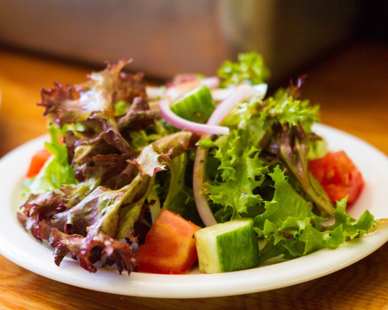 Salad served on board the Lady Muskoka cruises in Bracebridge Ontario