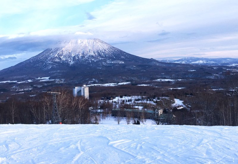Mountain views and ski hills on a Japan ski holiday