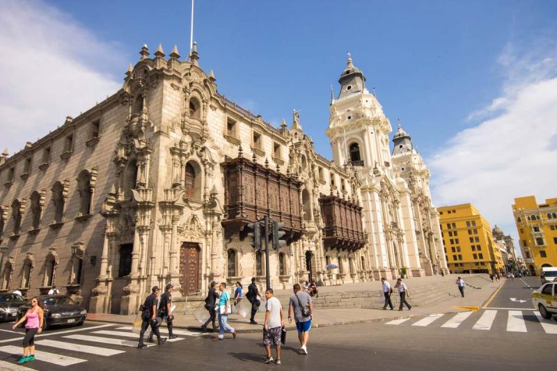 Classic architecture of Lima Peru for kids