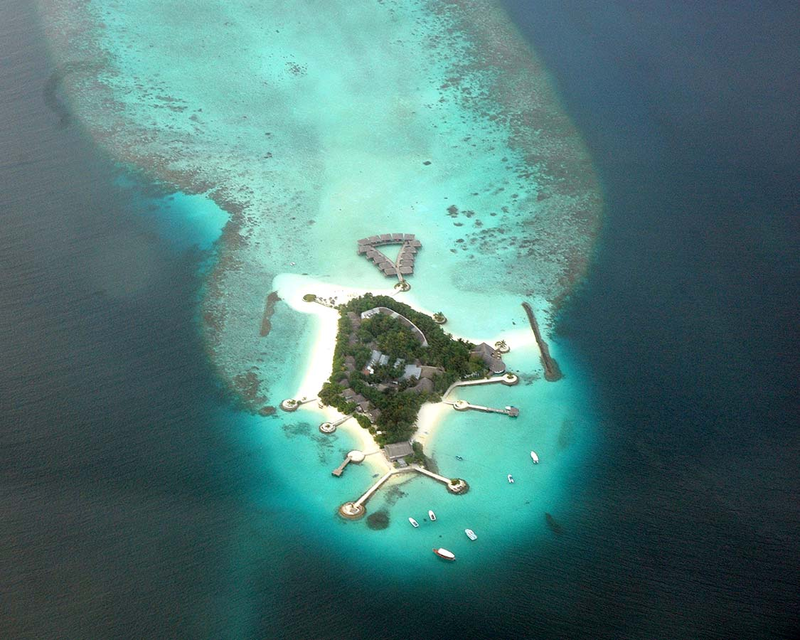 Atoll in Maldives from the air