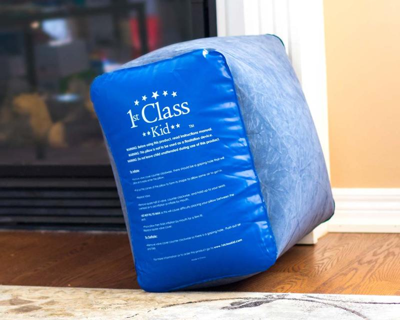 inflated 1st Class Kid Travel Pillow from side