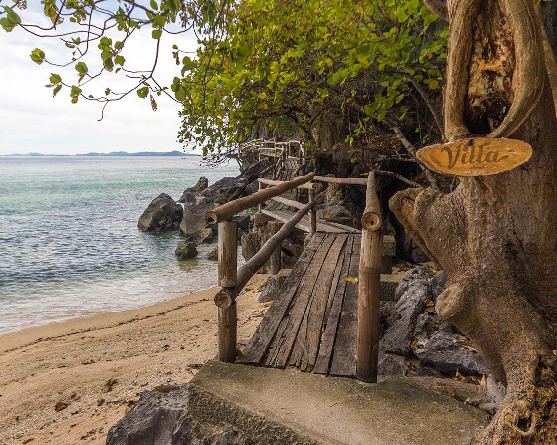 Entrance to the Sangat Island Dive Resort Villa