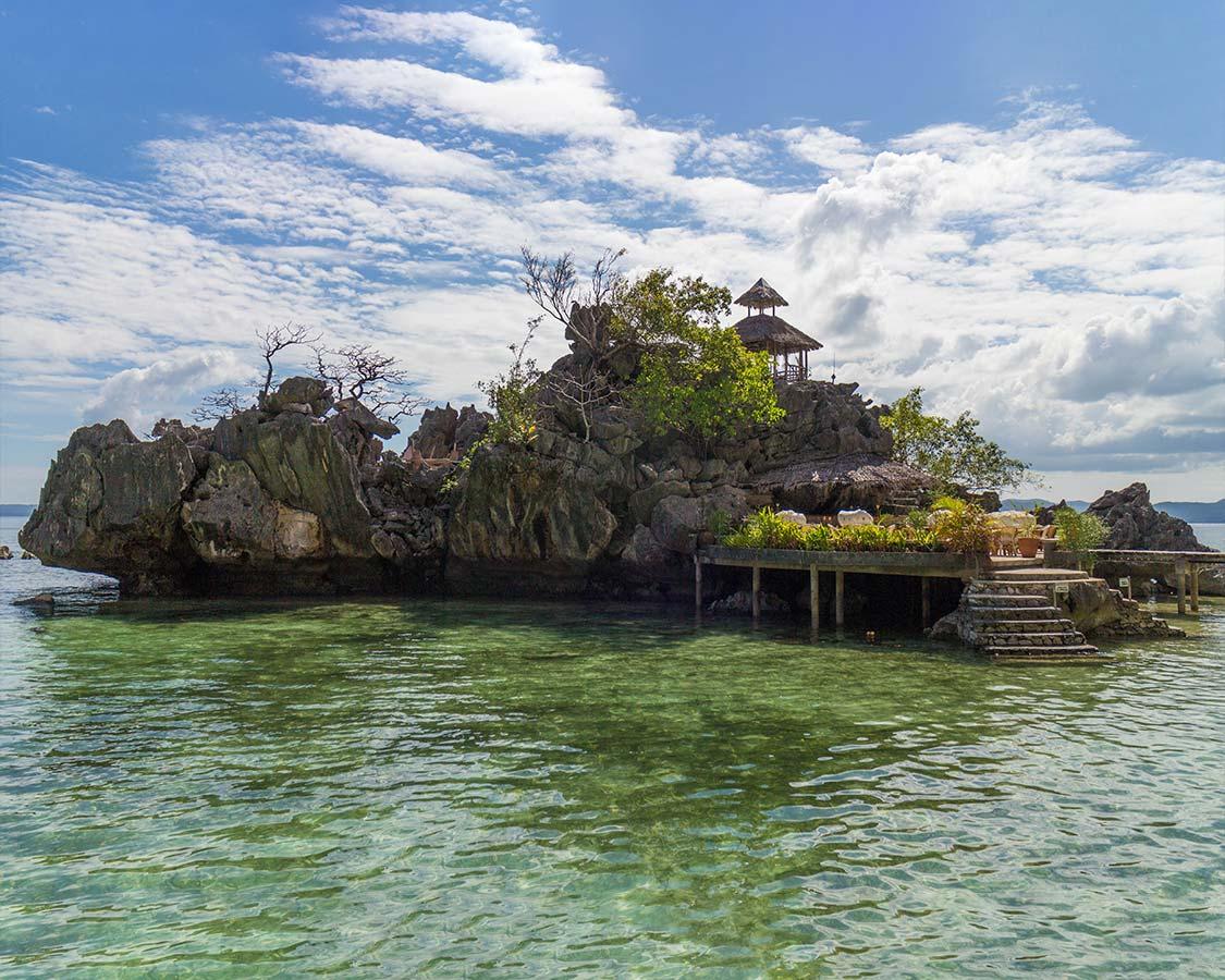 Island bar at Sangat Dive Resort in Coron Palawan
