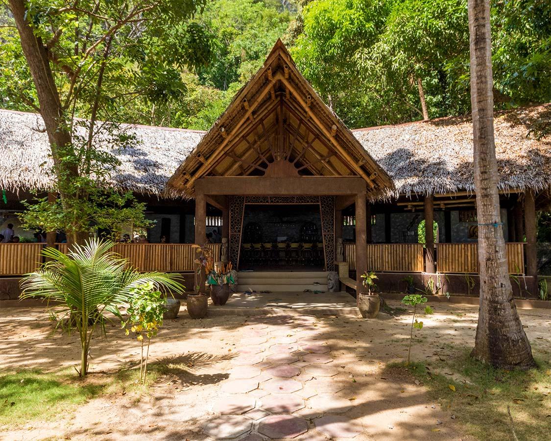 Lobby and Restaurant of Sangat Island Coron Resort Philippines