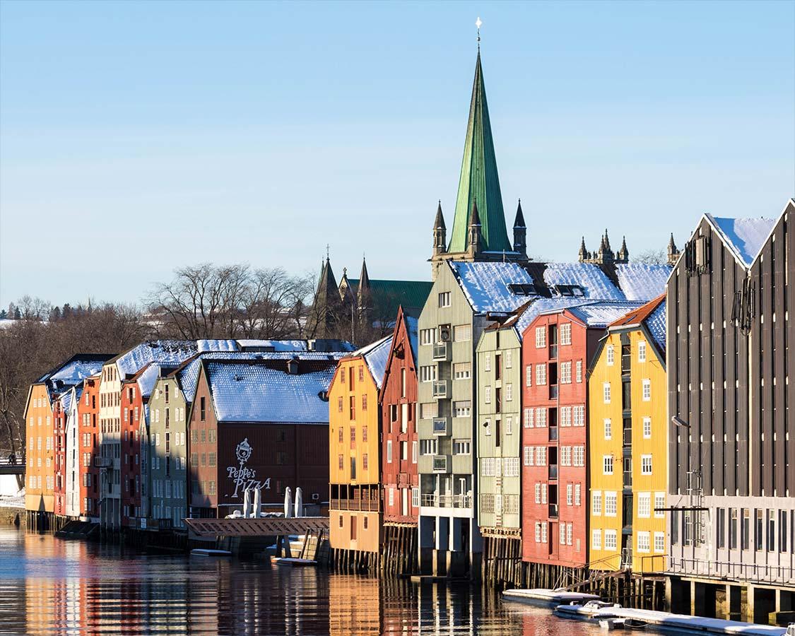 Trondheim Wharfs in Norway