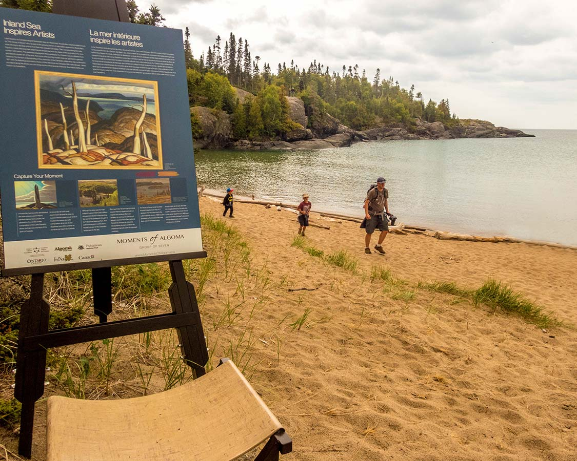 Group of Seven plaque in Pukaskwa National Park