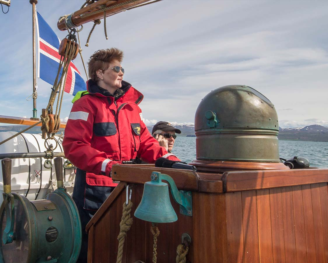 Iceland for kids Whale watching with North Sailing in Husavik