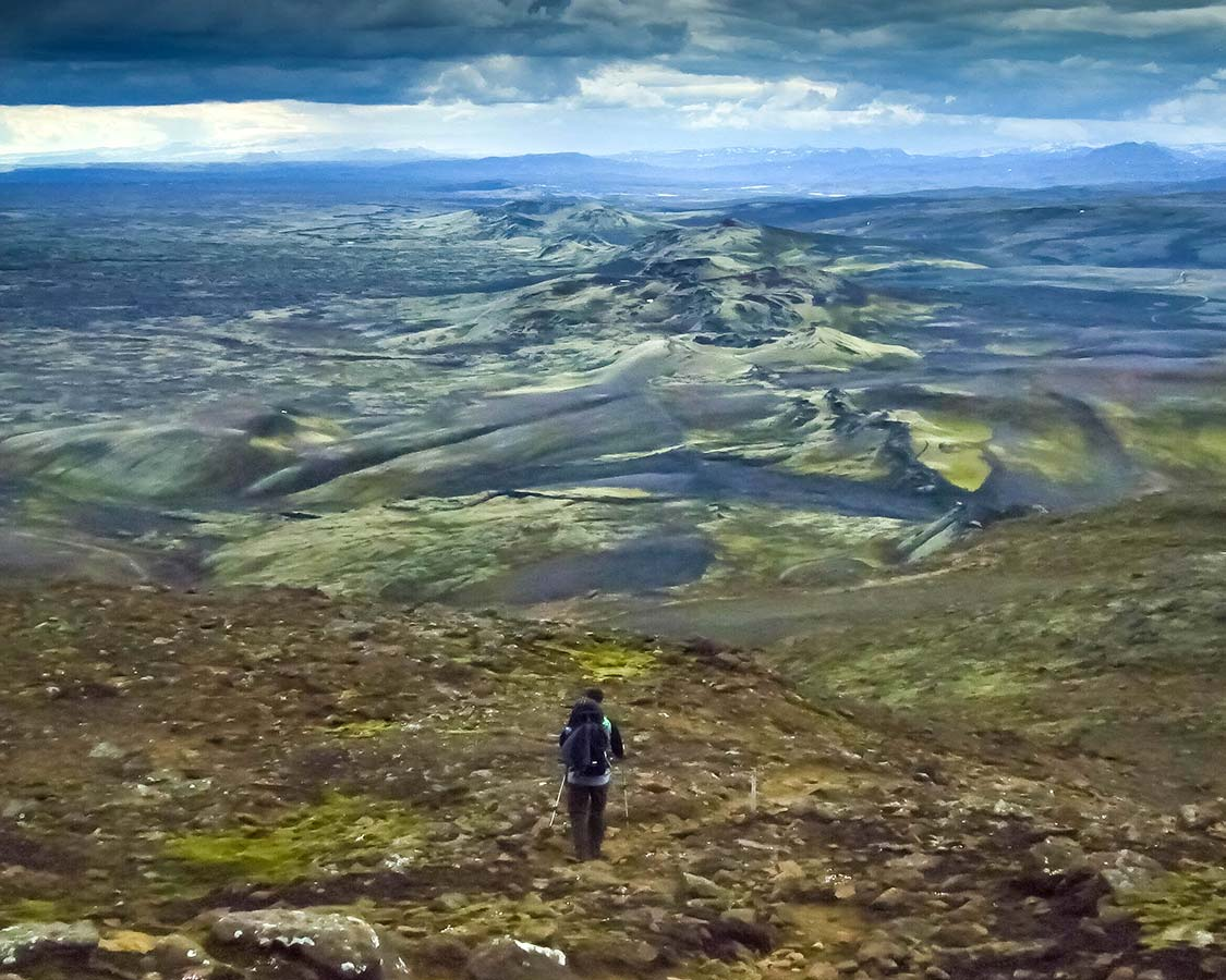 Iceland with kids Hiking in Lakagigar Crater Row