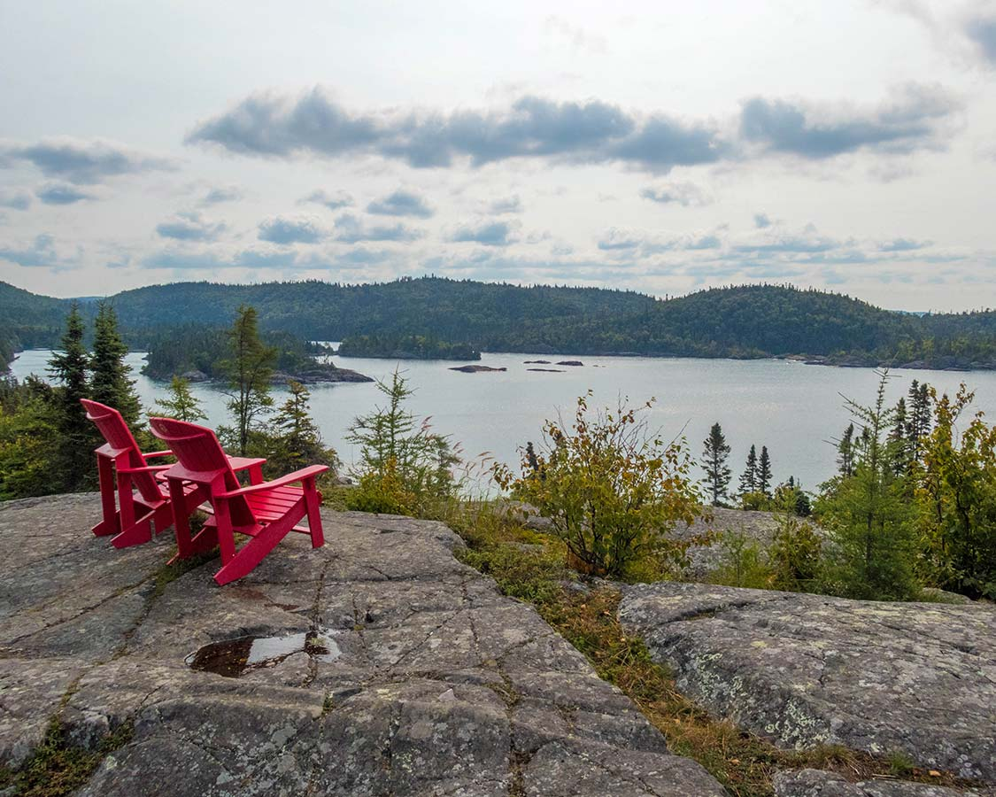 Parks Canada Muskoka Chairs in Pukaskwa National Park