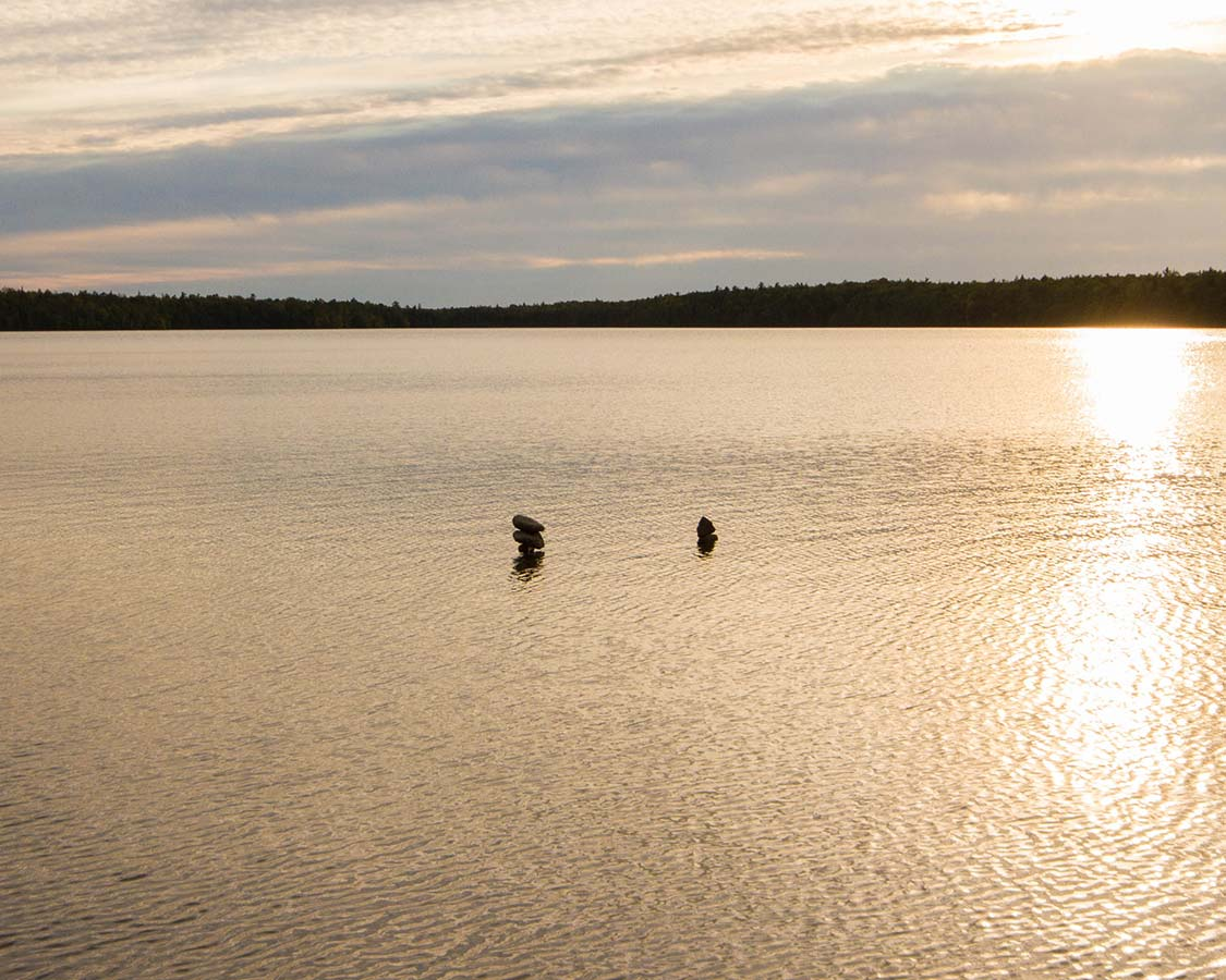 Swimming in Cyprus Lake Bruce Peninsula National Park