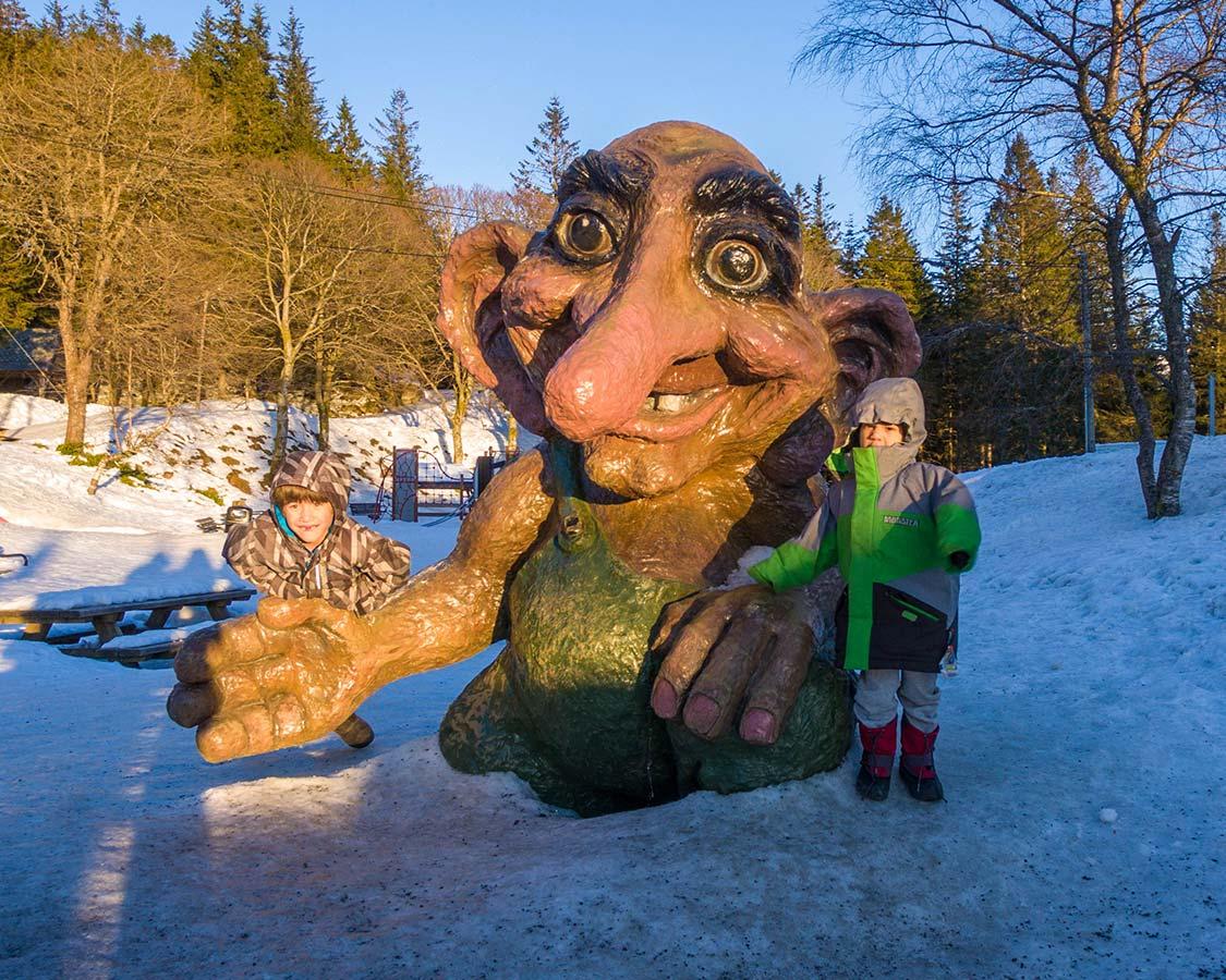 Troll on Mount Floyen in Bergen Norway