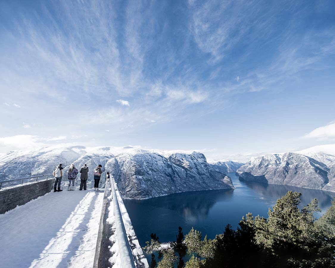 what to do in Flam in Winter Stegastein Viewpoint