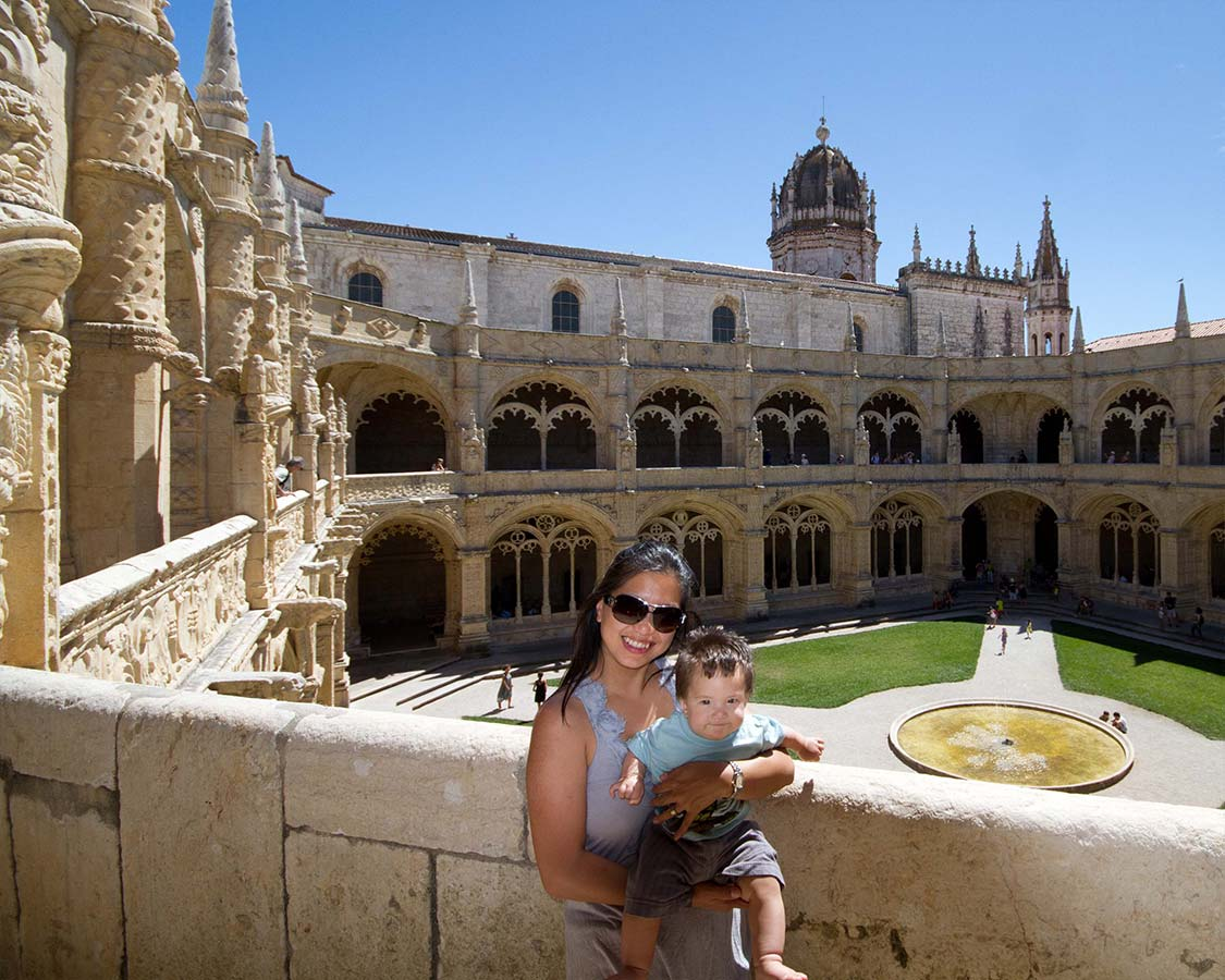 Things To Do In Lisbon with Children Christina Wagar and C at Monastery Of St Jerome