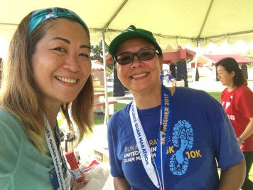 with Director of GVB, Ms. Pilar who also ran 5K