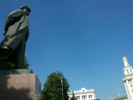 Jede Stadt ihren Lenin. So auch hier in Cheboksary am Platz der Republik.