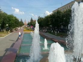 Eine tolle Fußgängerzone zieht sich mal einen Kilometer durch die neue Innenstadt, für Russische Verhältnisse schon sehr groß.
