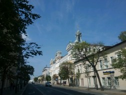 Viele Nebenstraßen der Kasaner Innenstadt sehen so aus seit Katharinas ll Umgestaltung/Neuaufbaus vor über 230 Jahren.