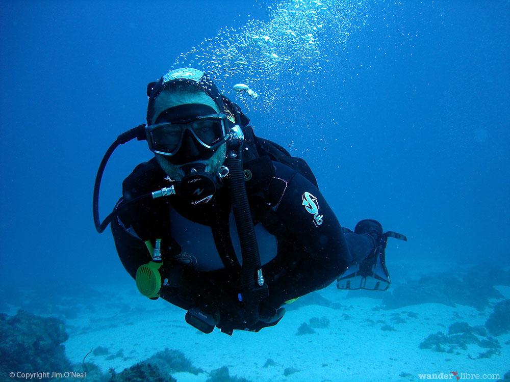 Jim Diving in Cape Verde