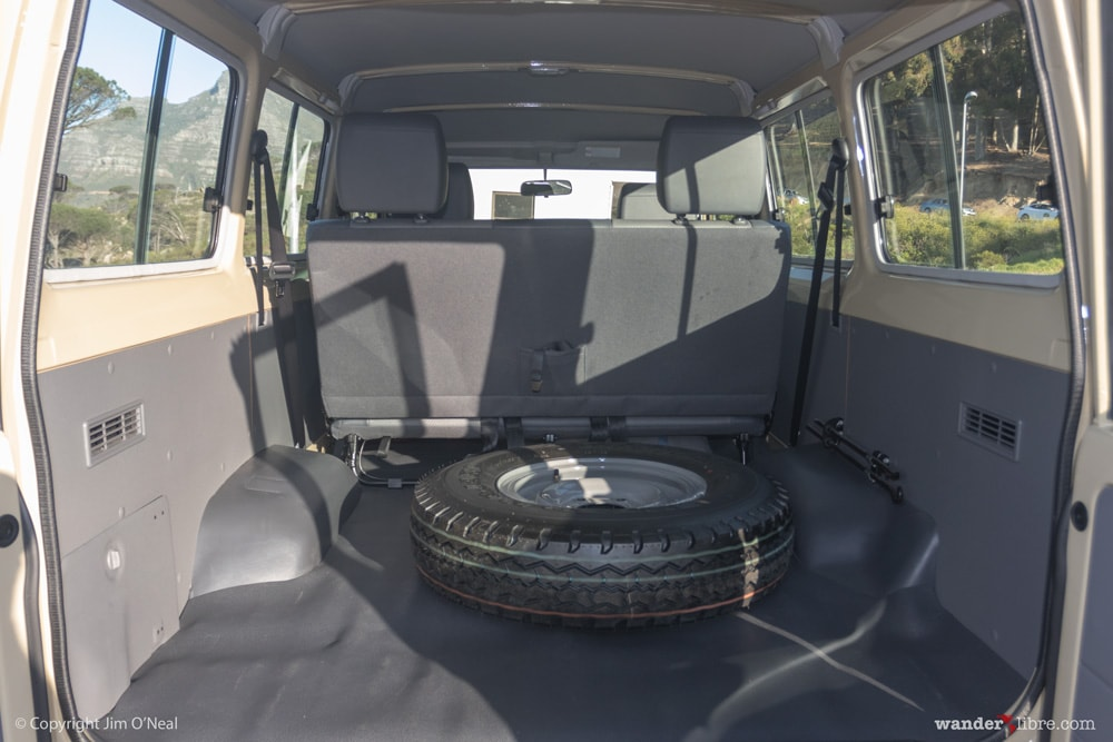 Interior Back, Pre-Build, Land Cruiser 78 Series Troop Carrier