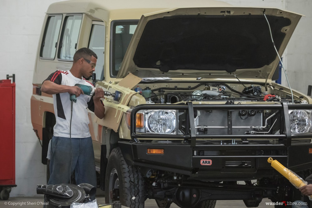Drilling Holes for the Safari Snorkel, Toyota Landcruiser 78 Series Troop Carrier