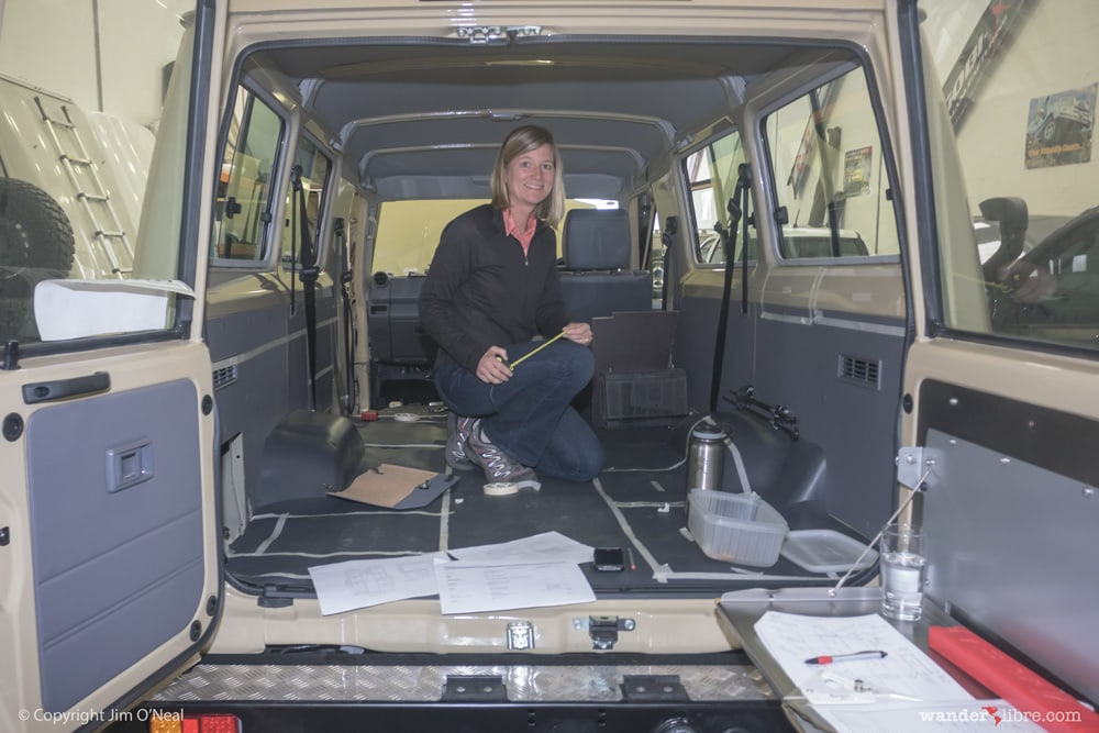 Mapping out the entire of our Land Cruiser Troop Carrier