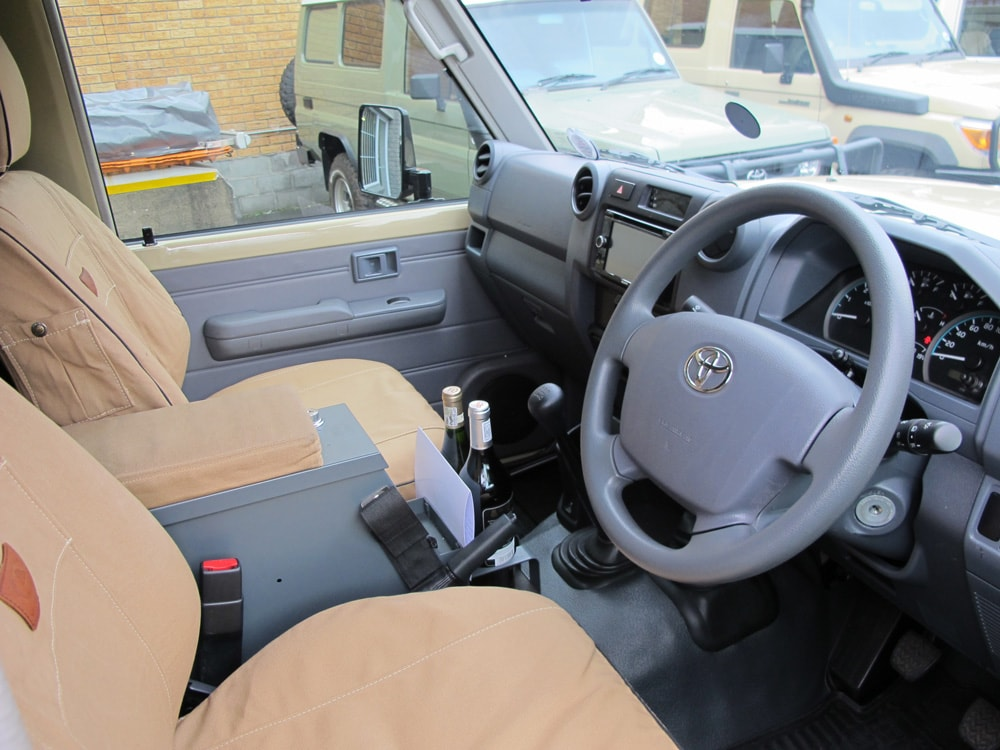 A new Land Cruiser Troopy camper conversion at R&D Offroad in Cape Town, South Africa