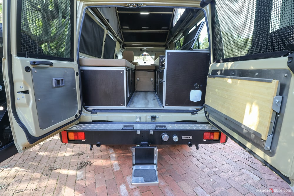 Gobi-X Rear Step & Outback Adventures Stainless Steel Drop-down Table